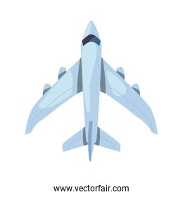 airplane transport on white background