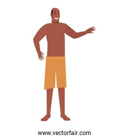 summer time people icon vector ilustration