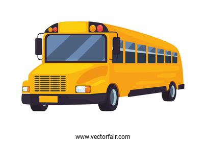 school bus transport on white background