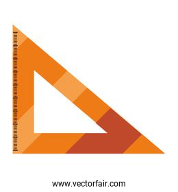 ruler triangle on white background