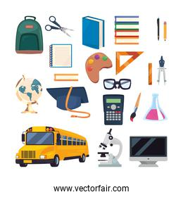 back to school flat design
