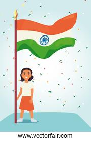 indian happy independence day vector ilustration
