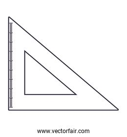 triangle ruler on white background