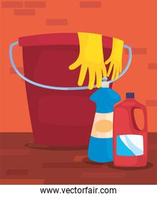 cleaning products and supplies design