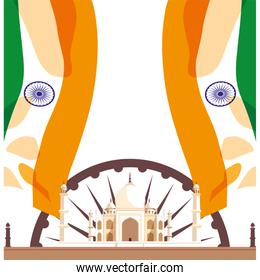india independence day flat design