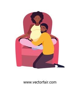couple waiting baby pregnancy and maternity