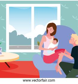 couple with baby pregnancy and maternity