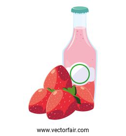 juice bottle fresh fruit strawberry