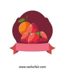 fresh fruits and vegetables vector ilustration