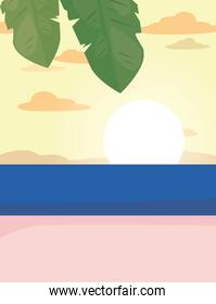 summer time vacation flat design