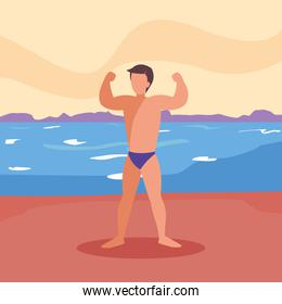 man swimsuit summer time vacations