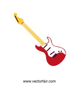 electric guitar musical on white background