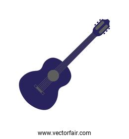 guitar musical on white background