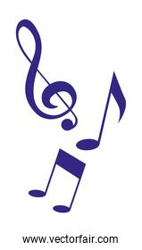music notes melody symbol background