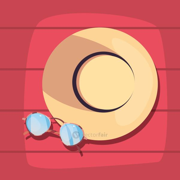 summer time vacations design flat vector ilustration