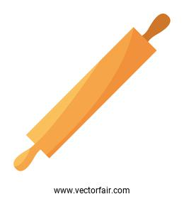 rolling pin cooking icon on white background