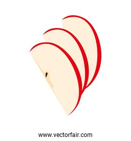 apple cut cooking icon on white background