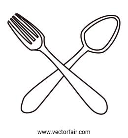 fork and spoon utensils cooking