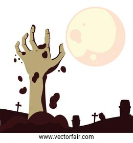 happy halloween celebration design vector ilustration