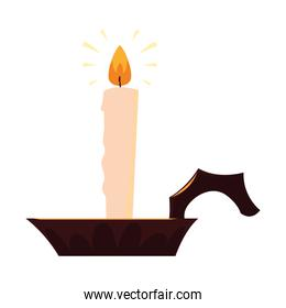 candle on white background design