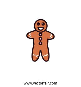 gingerbread man in white background