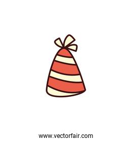 party hat decorative on white background