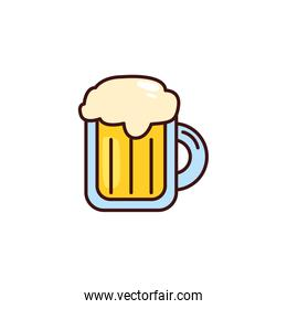 mug of beer in white background