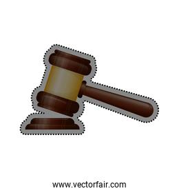 Justice gavel isolated