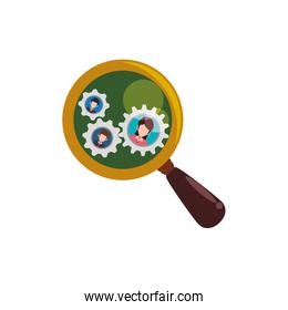 magnifying glass people pictures