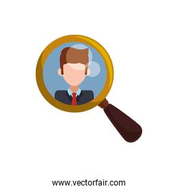 magnifying glass tool man picture