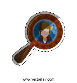 magnifying glass tool woman picture