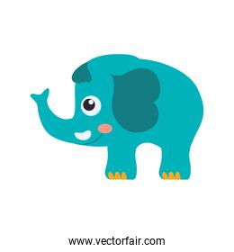 elephant cartoon drawing childish