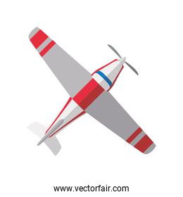 Small airplane isolated