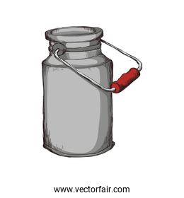 Milk can container