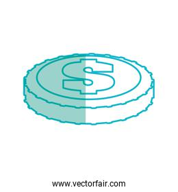 Money coin isolated