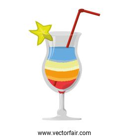 Delicious cocktail drink