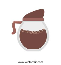 Coffee kettle isolated