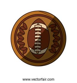 isolated american football emblem