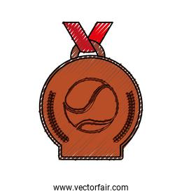 tennis winner medal