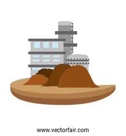 isolated sand factory building