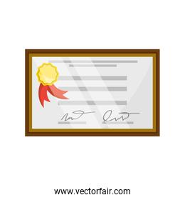 isolated diploma certificate