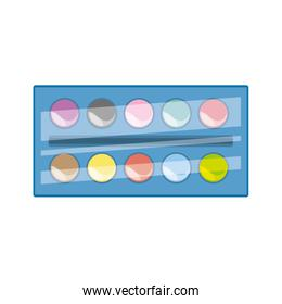 Paint palette isolated