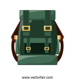 Camping backpack isolated icon