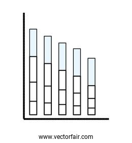 Statistics bars graphic