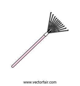 Rake gardening,tool vector illustration