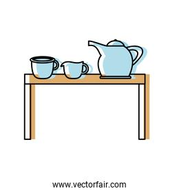 table with kitchen utensils icon