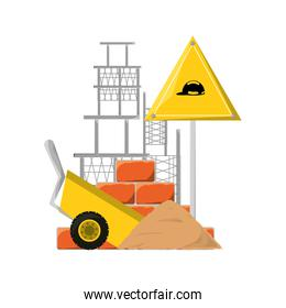 colorful  signal construction  vector illustration