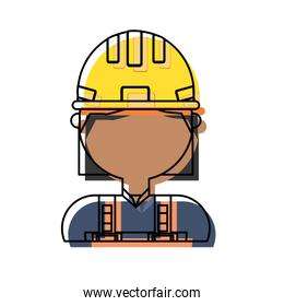 woman with safety helmet icon