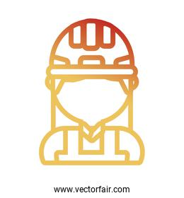 woman construction worker  vector illustration