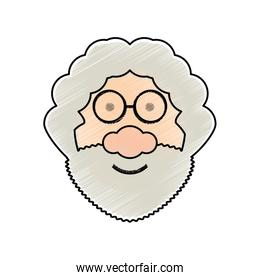 cartoon old man icon